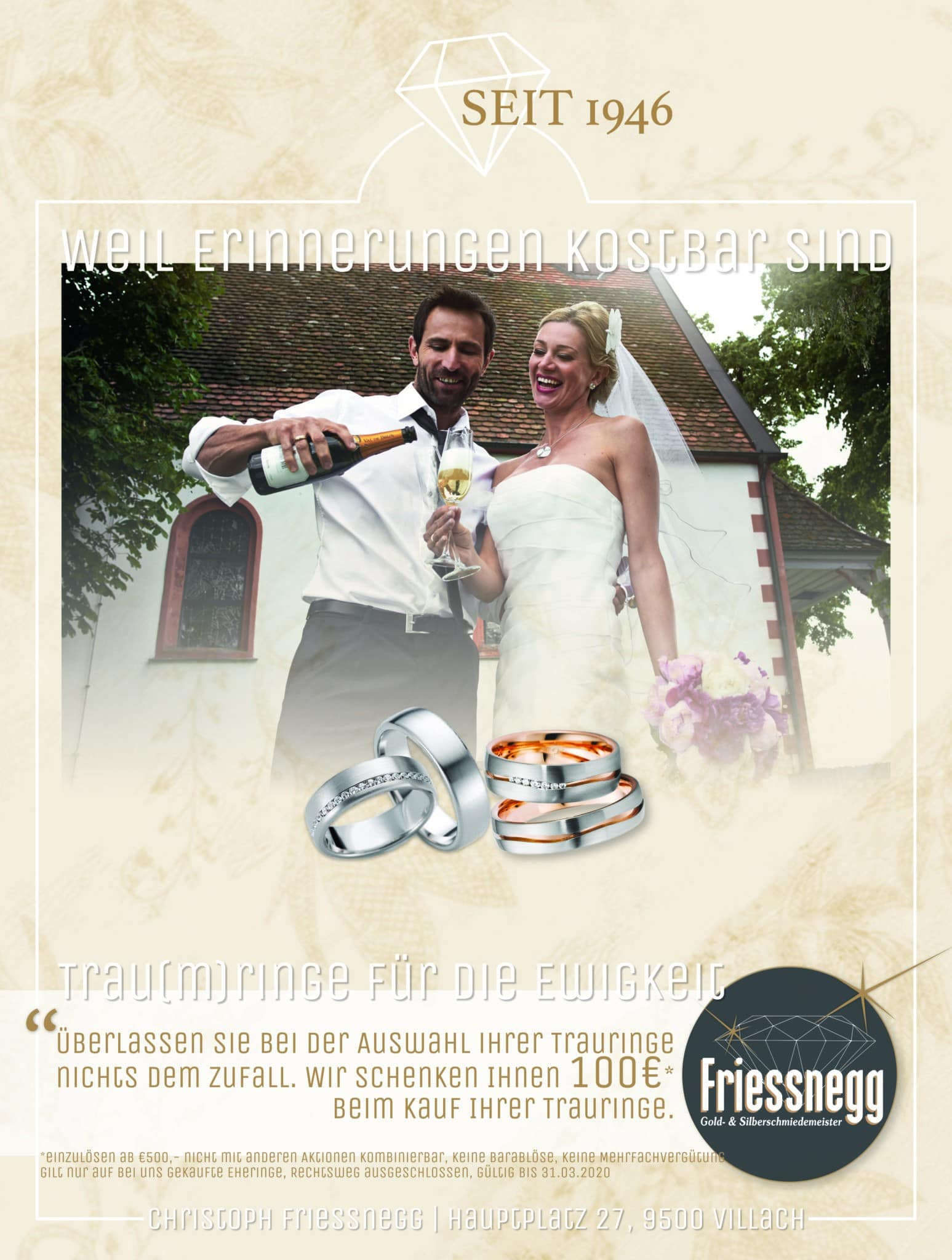 A4 Seite im Magazin Heiraten in Kärnten 2020