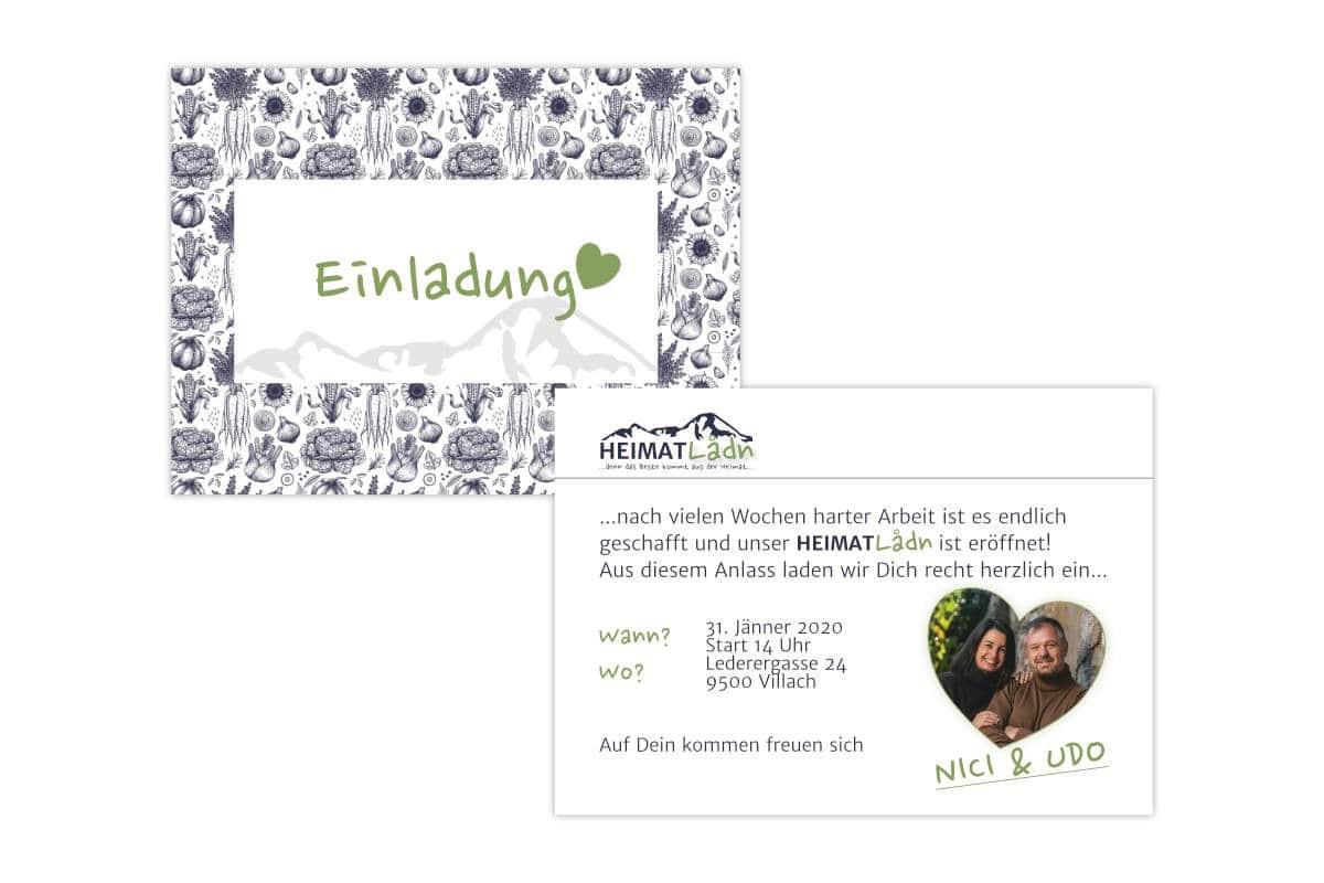 Auch die Einladungen zur Eröffnung wurden auf Recyclingpapier gedruckt.