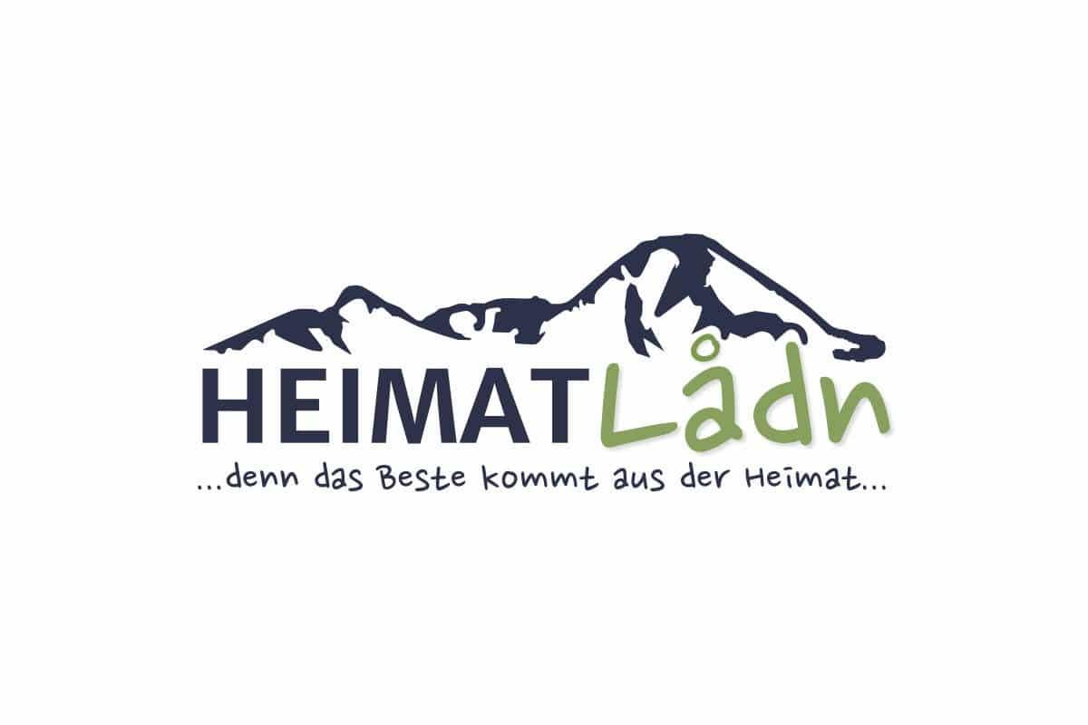 Heimatladen Logo mit dem Mittagskogel im Hintergrund