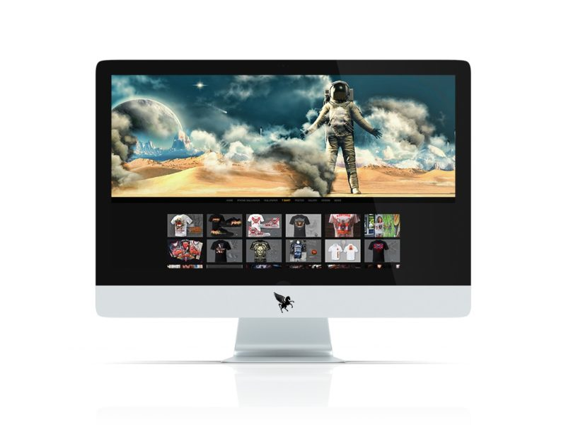 Die responsive Website Screendesign.com am großen Bildschirm