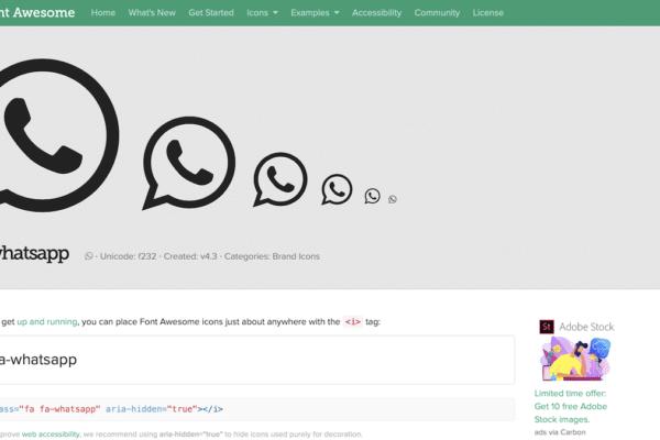 Mögliche durch CSS Klassen gesteuerte Größen der Icons