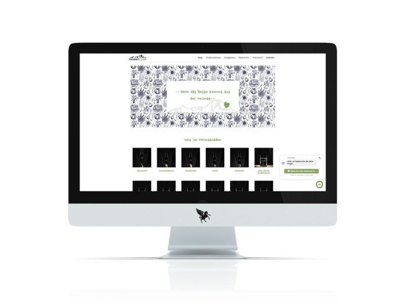 Neu erstellte Homepage des Heimatladen in Villach