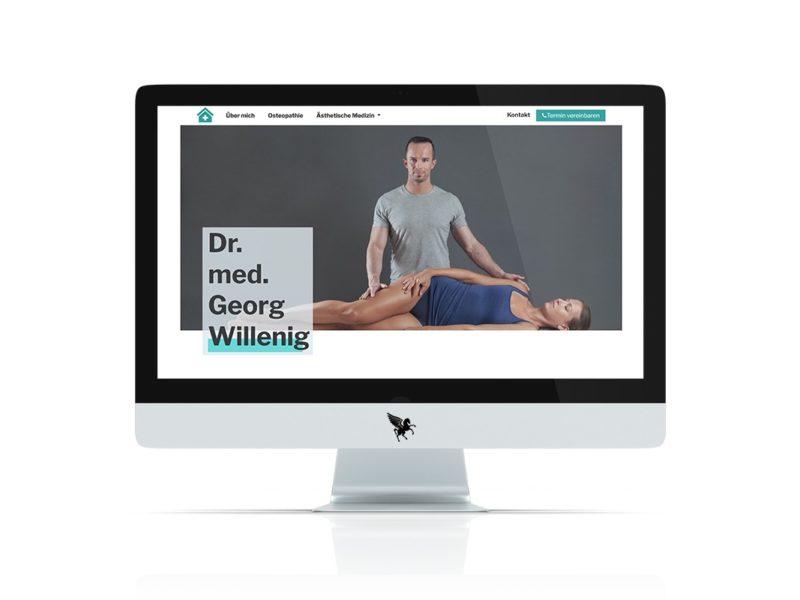Bootstrap Homepage für Doktor Willenig in Villach