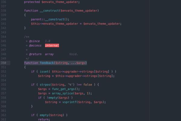 Bildschirmfoto des Editors während der Web Entwicklung