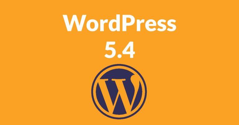 Titelbild des WordPress Updates 5.4
