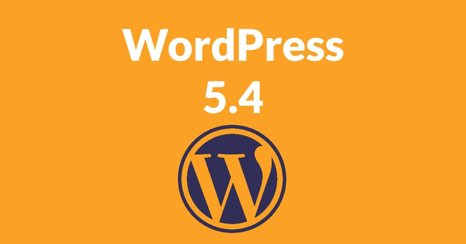 Titelbild des WordPress Updates 5.4