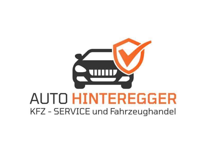 Das neue Logo für Auto Hinteregger in orange und grau