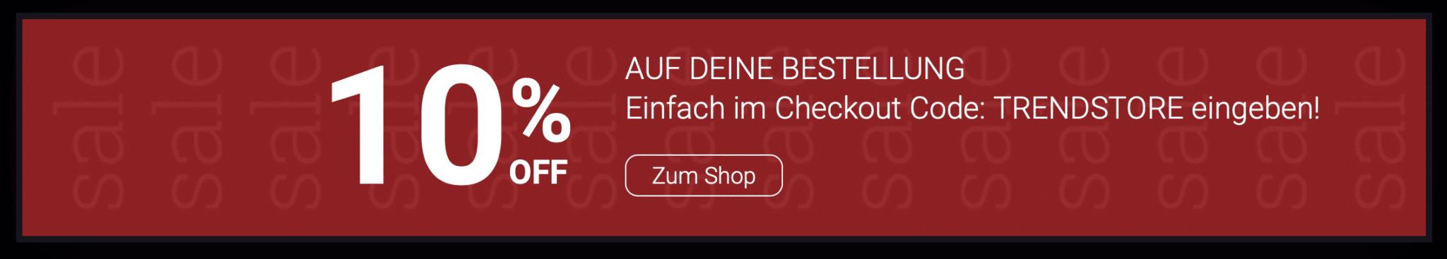 Call to Action des Web Shop Trendstore Villach