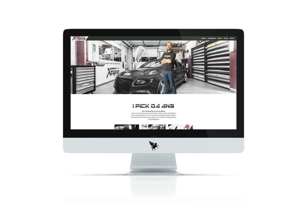 Die neue Website des Autofolierers Timo Ettlmayr