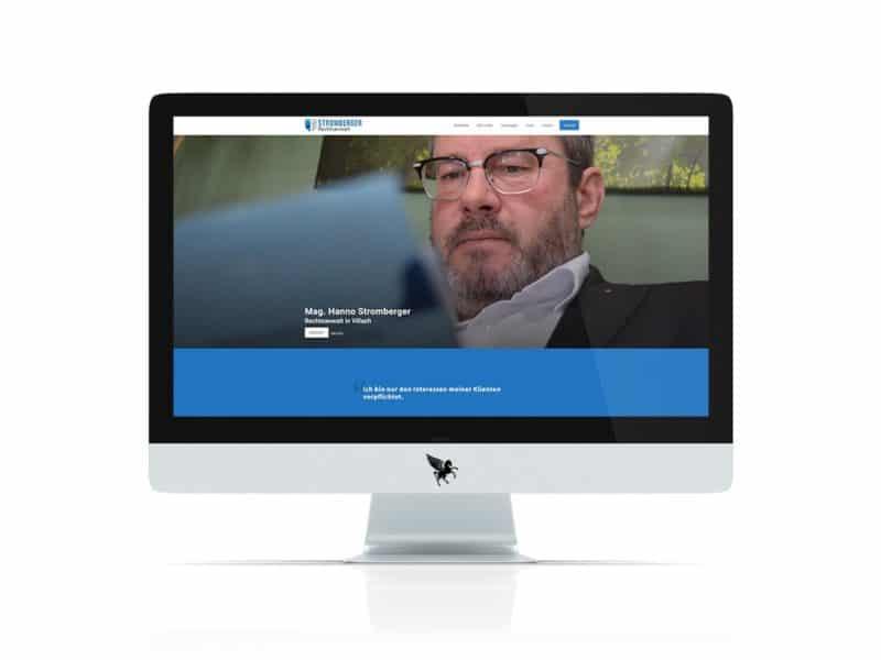 Screenshot der Homepage von Mag. Hanno Stromberger