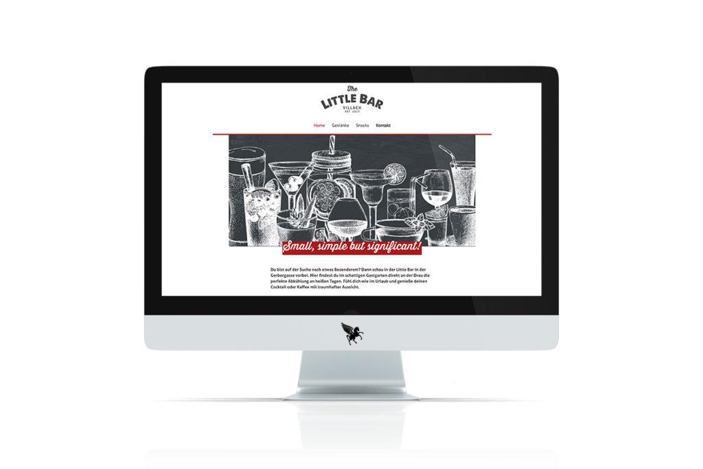 Screenshot der neuen Little Bar Website